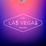 World Cities labels - Las Vegas. Stock Photo