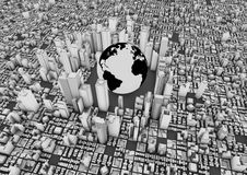 World city Royalty Free Stock Images
