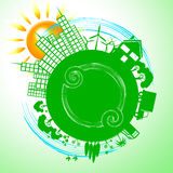 World City Shows Earth Day And Conservation Royalty Free Stock Photo