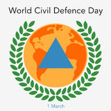 World Civil Defence Day. Flat  stock illustration Stock Image