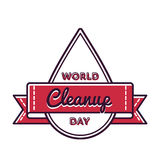 World Cleanup day greeting emblem Stock Photography