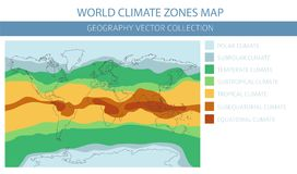 World climate zones map elements. Build your own geography info. Graphic collection. Vector illustration vector illustration