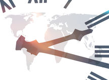 World clock abstract Stock Images