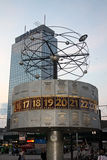 World clock in Alexanderplatz Stock Photo