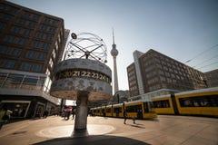 World clock in berlin royalty free stock image