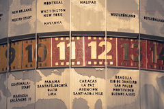 World clock closeup, berlin alexanderplatz, vintage style Stock Photos