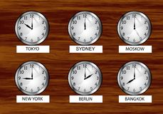 The world clock Royalty Free Stock Photography