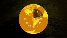 World Clock Face stock video