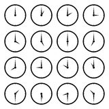 World Clock, Time Zone Vector Icons Stock Photo
