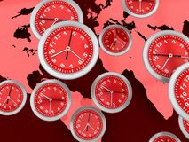 World clocks Royalty Free Stock Photos