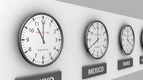 World clocks stock footage