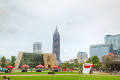 World of Coca-Cola in Centennial Olympic park Royalty Free Stock Photography