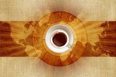 World of Coffee Stock Image