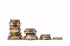 World Coin Stacks Royalty Free Stock Photo