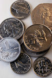 World coins!. Image of some coins from Asia, North America, and Europe Royalty Free Stock Image