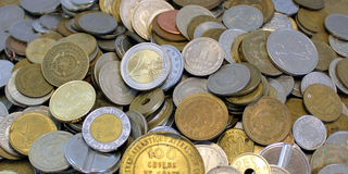 World coins royalty free stock photography