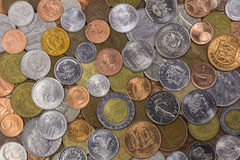 World Coins Collection. A collection of coins from around the world Royalty Free Stock Photography