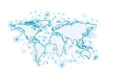 World communication abstract tech background Royalty Free Stock Photography