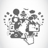 World communication technology Stock Images