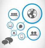 World communications process group Stock Images