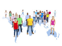 World Community with World Map Royalty Free Stock Images