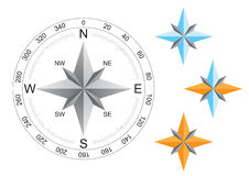 World compass directions. For map on the white background royalty free illustration
