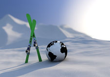 World competition skiing stock illustration