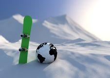 World competition snowboarding Stock Image