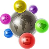 World of computers Royalty Free Stock Photography