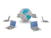 World and computers Royalty Free Stock Images