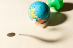 World conception. With question mark Stock Photography
