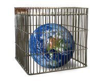 World confined in a cage Stock Photography