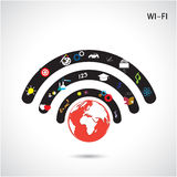 World connections network design,global internet concept,network Stock Images