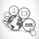 World connections technology Royalty Free Stock Photos