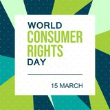 World Consumer Rights Day. 15 March - Vector stock photos