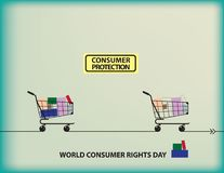 World Consumer Rights Day. Calendar holiday on March 15 Royalty Free Stock Photos