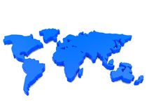 World continent. 3D world continent for using in any purpose Stock Image