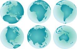 World continents vector illustration