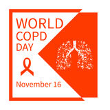World COPD day poster Royalty Free Stock Images