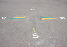 World corner sign on asphalt in schoolyard Royalty Free Stock Image