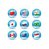 World countries flags set Royalty Free Stock Photography