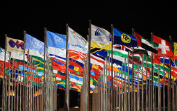 World countries and organizations flags royalty free stock photo