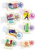 World Country Stamps Set Stock Images