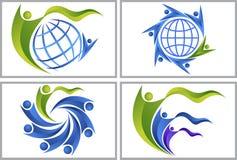 World couple logo Stock Photos