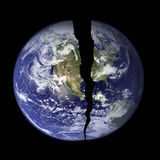 World with Crack. NASA Photo of Earth with a crack in it Royalty Free Stock Photos