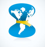 World Crisis. Abstract illustration of the world tightening her belt in crisis Stock Images