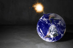 World Crisis Concept. The earth bomb background, Elements of this image furnished by NASA Royalty Free Stock Image