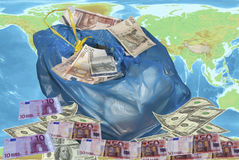 World crisis and speculation. Global economy.World crisis and speculation. Conceptual image Royalty Free Stock Photo