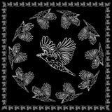 World crows. vector illustration