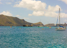 The world cruise ship arriving at admiralty bay, bequia Stock Image